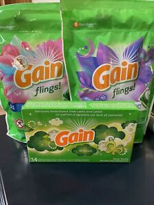 48 ct gain flings and 68 ct dryer sheets