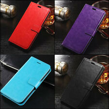 Leather Flip Case Wallet Cover iPhone 5 Credit Card ID Slim Cash Luxury + GLASS
