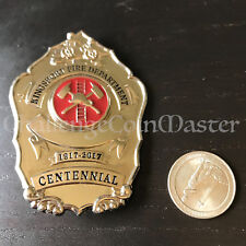 C26 KINGSPORT FIRE DEPARTMENT CENTENNIAL 2017 BADGE