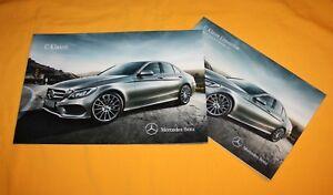 Mercedes C-Klasse 2013 Prospekt Brochure Depliant Catalog Folder Prospetto