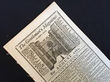 1762 newspaper BIRTH OF PRINCE GEORGE IV Future King of England ROYAL FAMILY