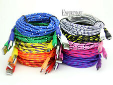 1/2/3M Braided Fabric Micro USB Data&Sync Charger Cable Cord For Cell Phone