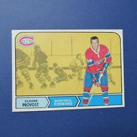 CLAUDE PROVOST 1968-69 O-Pee-Chee # 163 OPC Montreal Canadiens 1969  68 69  NRMT