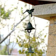 Japanese Furin Wind Chime Cast Iron Hummingbird Wind Chime Bell Garden Decor