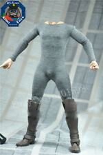 "DIY 1/6 Scale Gray Jumpsuit Siamese Clothing For 12"" Male Action Figure Doll"