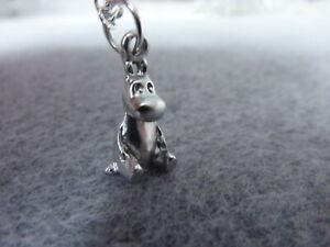 "Moomin Mini 3D Troll Charm Pendant Necklace 18"" Chain Birthday Gift # 246"