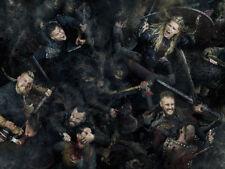 Vikings  Gustaf Skarsgard Katheryn Winnick Silk Poster/Wallpaper 18 X 14 inches