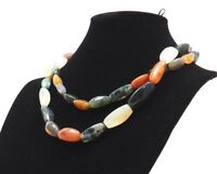 Old Vintage Heavy Quartz & Natural Stone Agate Beaded Fashion Chunky Necklace