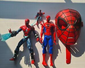 """Spiderman Movie Action Figures bulk 6"""", 2 x 12 (1 dark)"""", mask BULK BUNDLE"""