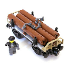 Lego City Cargo Train Railway Log Tree Trunk Wood Timber Wagon from 60198 - NEW