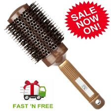 H&S Round Hair Brush Blow Dry Drying Boar Bristle 53mm Large Round Barrel NEW