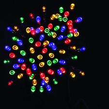 Multicolor Festive Christmas String 100 LED Lights Battery Operated with Timer