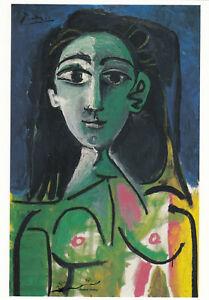 Postkarte: Pablo Picasso - Weibliche Halbfigur / Jacqueline / 1963