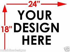 """12 Design Your Own 18"""" x 24"""" 2-Sided  Plastic Sign w/ Metal Stakes"""