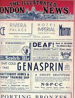 Illustrated London News January 18 1936 Tibet Rudyard Kipling Wilhelm Backhaus