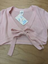 Body Wrappers Pink Knit Long Sleeve Wrap Sweater Girls 12-14 #105