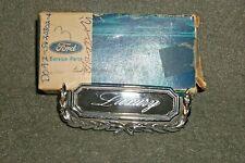 NOS LUXURY Door Panel Emblem 1969 1970 Ford Galaxie 500/LTD/Mercury Meteor 69 70