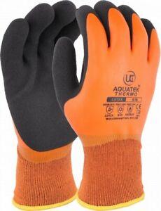 UCI AQUATEK-THERMO ORANGE Dual Coated Foam Latex Thermal Super Grip Work Gloves