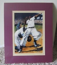 RARE NEGRO LEAGUE NUMBERED PRINT OF HOMESTEAD GRAYS SIGNED BY ARTIST MATTED