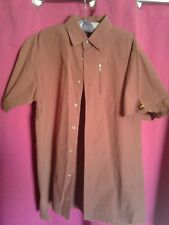 Caterpillar Men's Work Short Sleeve Button Down Shirt w/pockets. Sz L Rust Red