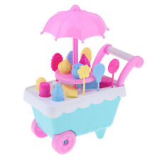 Lovely Ice Cream Cart Set Furniture for Reborn Doll Mellchan Kids Play Toy