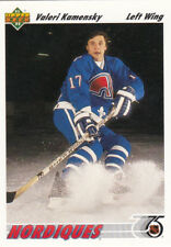 1991-92  UD UPPER DECK  #273 Valeri KAMENSKY RC rookie - Quebec Nordiques