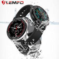 Lemfo 2019 DT78 Ritmo cardiaco reloj inteligente Podómetro Bluetooth Android IOS