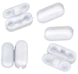 Pack of 5 Replacement Vertical/Roller Blind White Plastic Ball Chain Connectors