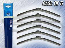 "AUTOTEX CLIX 24"" WIPER BLADE - CLIX-24 - CASE OF 6 - REPLACES IN 10 SECONDS"