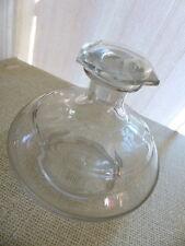 Superbe ancienne carafe carafon décanteur #1 verre soufflé taillé Handmade 1900