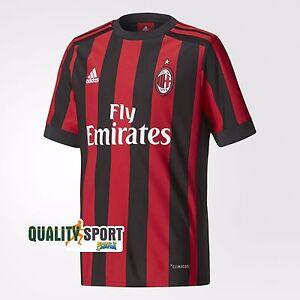 Adidas Milan Bambino Prima Maglia Jersey Home T-shirt Originale AZ7066 2017/18