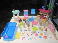 Barbie Pet Vet Lot ~ Walking Dogs, Potty Train Pups & More 50+ piece Lot (B)