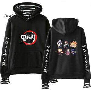 Demon Slayer Kimetsu no Yaiba Casual Hoodie Sweater Pullover Sweatshirt Jacket