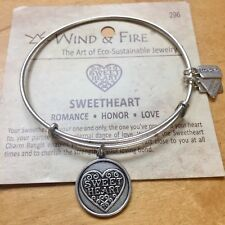 Wind and Fire Sweetheart Bracelet Russian Silver Expandable Adjustable