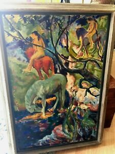 Antique Oil Painting Paul Colin French Artist Signed Friend Gauguin