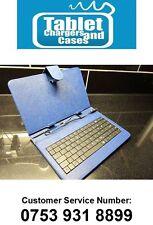 """Teclado USB Azul Estuche de cuero PU con soporte para 7"""" Ainol Novo 7 Android Tableta Marte"""
