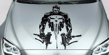 PUNISHER skull man hood side vinyl decal sticker for car track wrangler fj etc