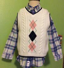 janie and jack Baby Boy Vest And Shirt Seaside Celebration Lane Size 2t