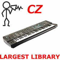 Casio CZ 1 CZ 101 CZ 3000 CZ 5000 CZ 1000 Largest Program Patch Sound Library