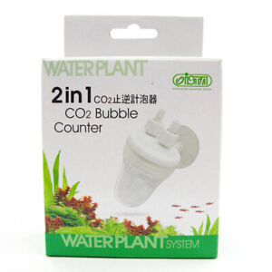 ISTA 2 in 1 CO2 Bubble Counter With Check Valve; for planted aquarium