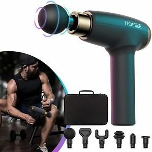 HOMIEE Massager Gun, Handheld Electronic Muscle Massager Gun with 5 Intensity