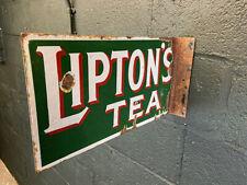 More details for lipton's tea original enamel two sided sign