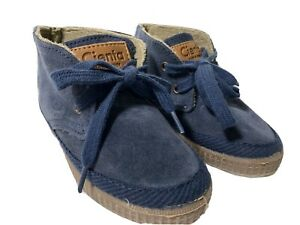 Boys Cienta Made in Italy Blue Suede Booties Size 25 (US 8)