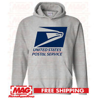 USPS LOGO POSTAL SPORT GREY 2C HOODIE Employee Sweatshirt United Post Office
