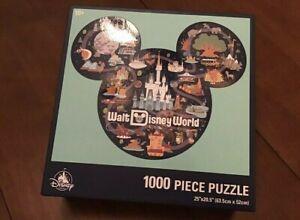 "Walt Disney World 1000 Piece Mickey Icon Park Map Puzzle 25""x 20.5"" Disneyland"