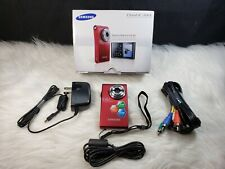 Samsung Hmx-U10 Ultra-Compact Full-Hd Camcorder with 10Mp Still (Red)