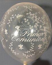 PRIMA COMUNIONE TRASPARENTE PALLONCINI STAMPATI 10 Pz 5 POLLICI PARTY FESTA