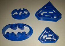 4tlg. Batman Keks Fondant Ausstecher Super Hero Ausstechform