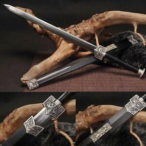 Handmade Chinese HAN Dynasty Jian Folded Steel 8 sides Blade Battle Sword