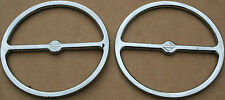 Used Chrome Original Harley Speaker Trim Bar & Shield Stock Harley Parts (U-315)